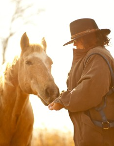 Author Jaden Terrell with her Palomino Quarter Horse, Pete